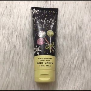 Bath and body confetti cake pop body cream lotion